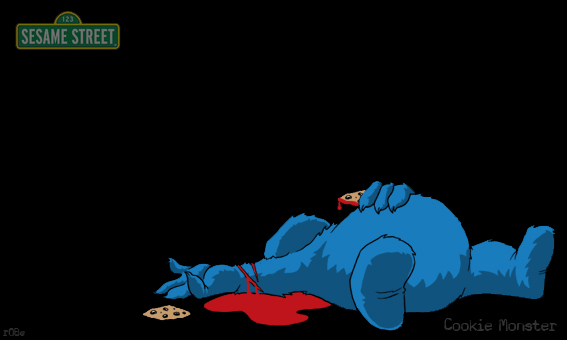 Cookie Monster clipart emo On by by monster beto7605
