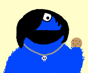 Cookie Monster clipart emo Becomes emo Monster emo