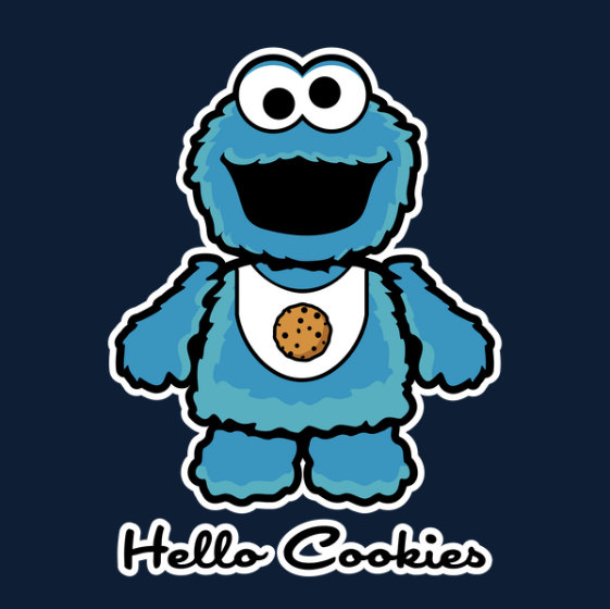 Cookie Monster clipart coloring page Nerd  Monster Shirt Geek