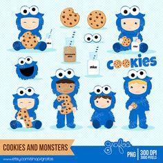Winter clipart monster Monster Monster Druktechniek Cookie via