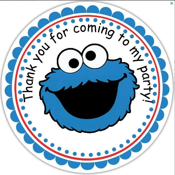 Cookie Monster clipart thank you This monster Printables for best