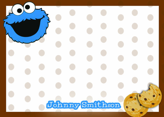 Cookie Monster clipart coloring page Cookie thank note cookie you