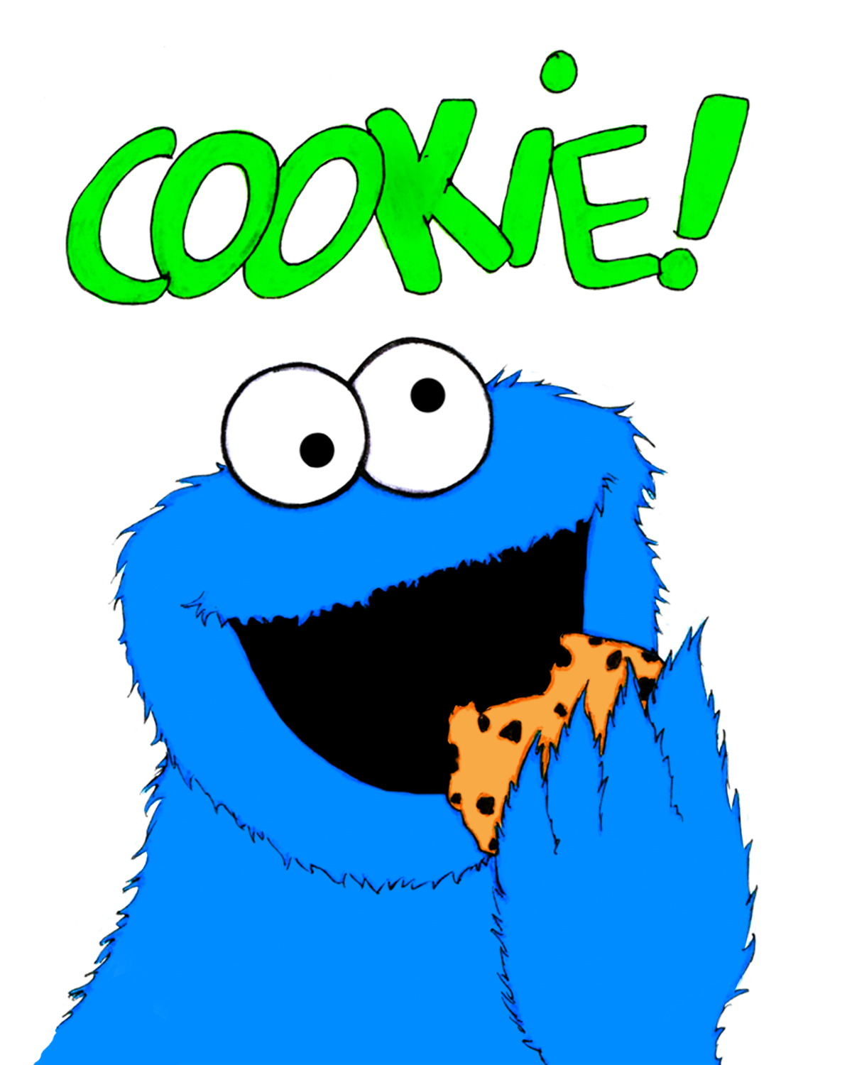 Cookie Monster clipart coloring page Monster Cookie Mislead Did Did