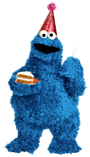 Cookie Monster clipart transparent 1 Cookie number number clipart