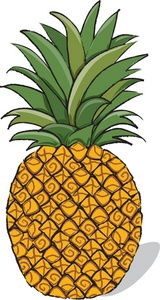 Cartoon clipart pineapple Clip clipart work for 2