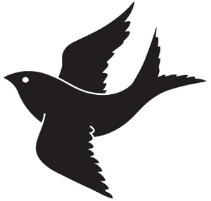Blackbird clipart flying crows Fans hawk Clipart art clip