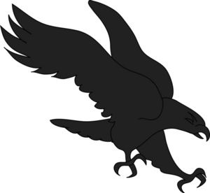 Simple clipart hawk #9