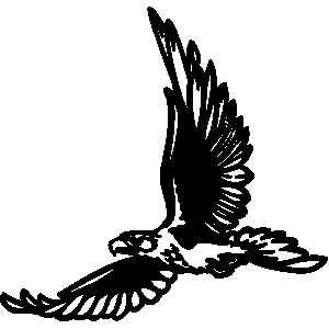 Simple clipart hawk #7
