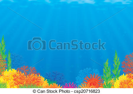 Background clipart coral reef Background Underwater reef a csp20716823