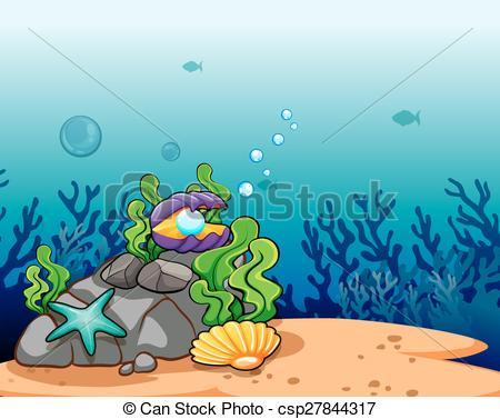 Reef clipart underwate scene #5