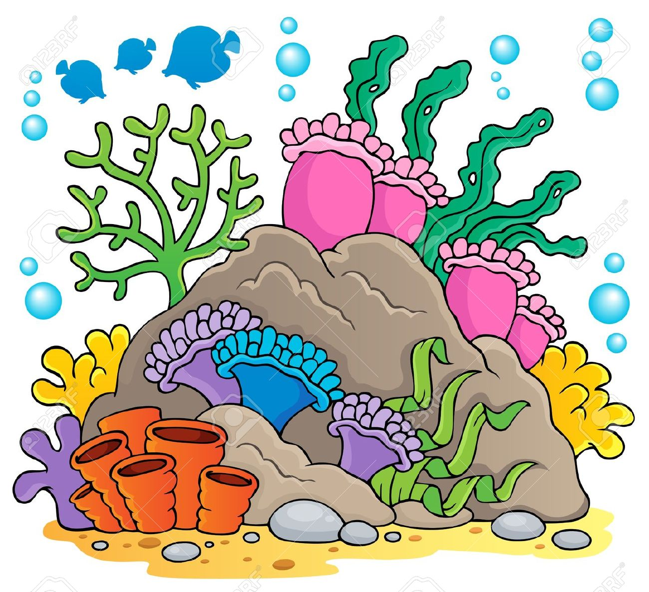 Reef clipart  Coral Reef Clipart