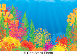Reef clipart Reef Coral collection Reef Clipart