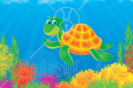 Reef clipart underwate scene #4