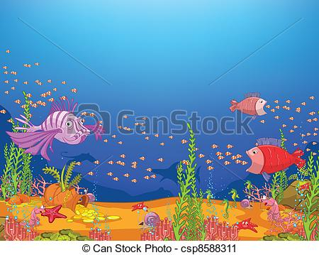 Drawn ocean ocean life Ocean 526 World Ocean