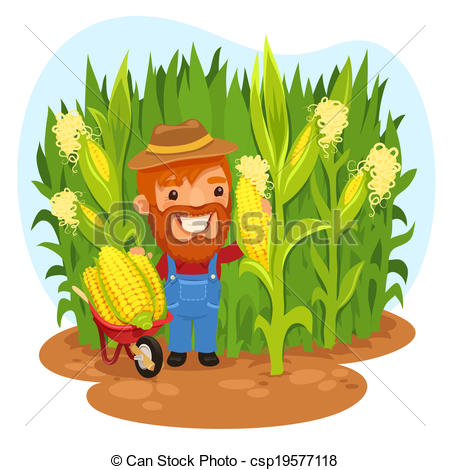 Cornfield clipart Of Cornfield a Harvesting Art