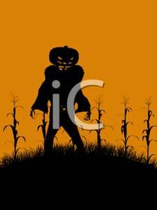 Cornfield clipart silhouette Cornfield a Clipart a Creepy