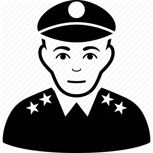 Cornol clipart commander Police icon general army officer