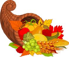 Cornucopia clipart color Clipart Happy Thanksgiving Clipart Download