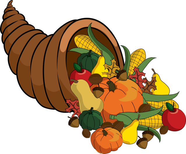 Cornucopia clipart cartoon Art Cornucopia clipart Free vintage