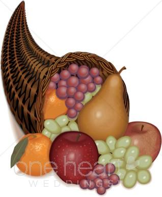 Basket clipart cornucopia Filled Clipart Clipart Cornucopia Fruit