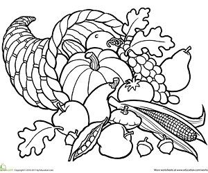 Cornucopia clipart color Com) Basket (via Cornucopia /