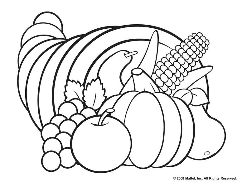 Cornucopia clipart color In com Coloring chuckbutt Page