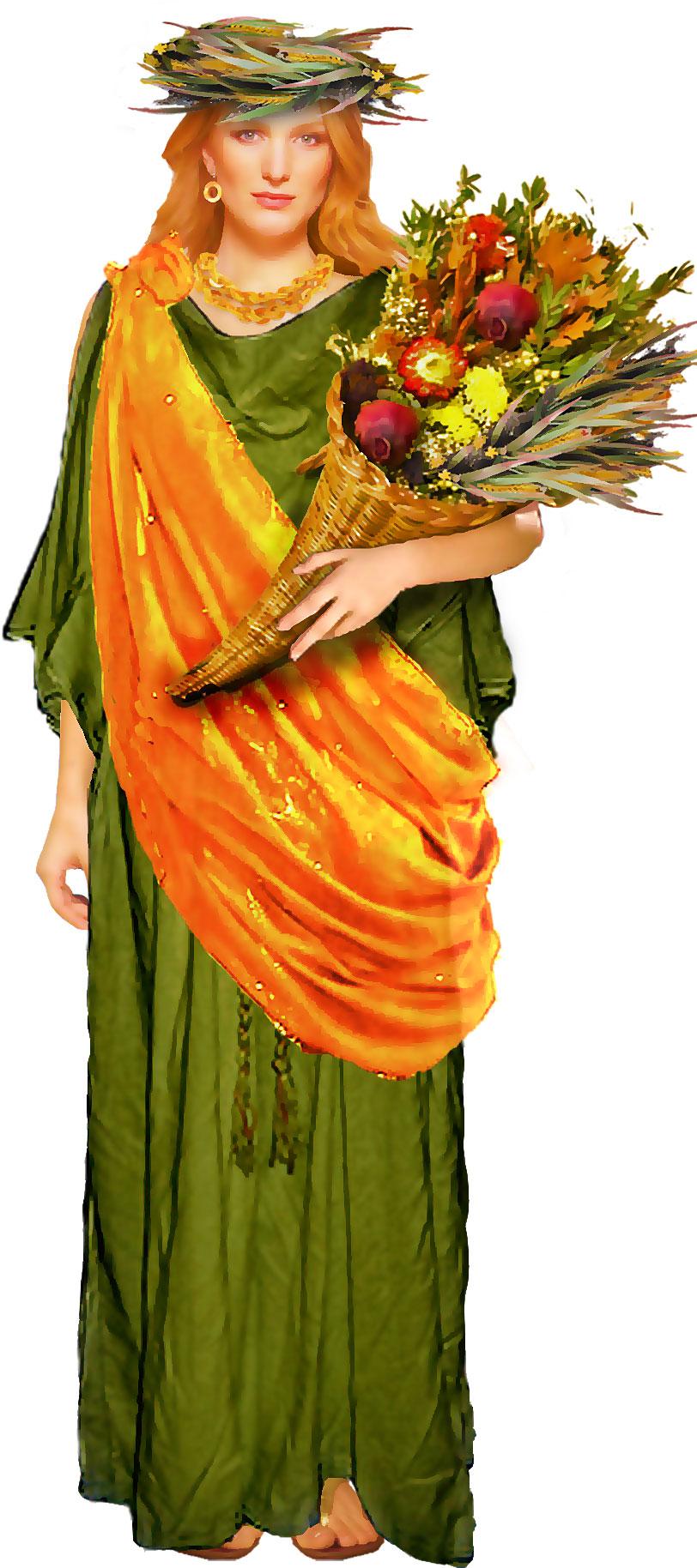 Cornucopia clipart demeter Demeter bouquet bouquet Green Costume