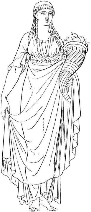 Cornucopia clipart demeter Cornucopia Woman the in Mythology
