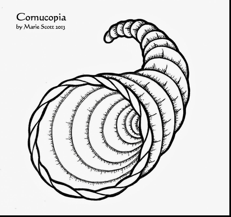 Cornucopia clipart printable Stunning cornucopia page cornucopia coloring