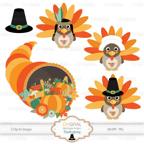 Cornucopia clipart printable Thanksgiving  Turkey Horn clipart