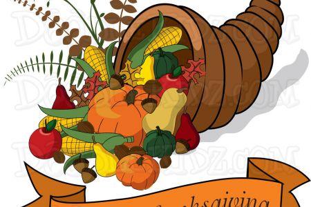 Cornucopia clipart thanksgiving 2015 Feast a clip banner Thanksgiving