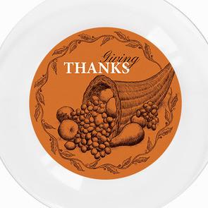 Cornucopia clipart thanksgiving plate Orange Cornucopia Decorations & Dishes