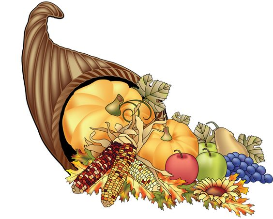 Cornucopia clipart vintage Art and vintage autumn cornucopia