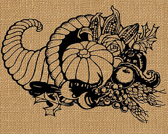 Cornucopia clipart vintage Of Plenty Download Vintage Horn