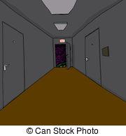 Corridore clipart Corridor Cartoon Monster Green background