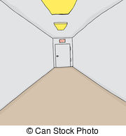 Corridor clipart perspective 703 cartoon 6 Corridor Exit