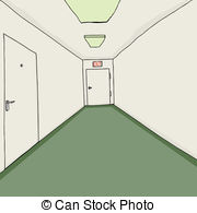 Corridor clipart perspective Corridor drawn 254 Corridor Office