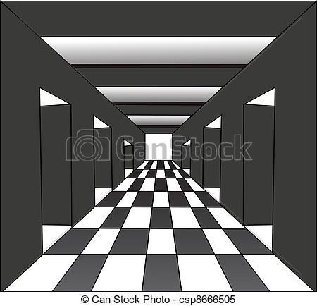 Corridore clipart The the doors Vector
