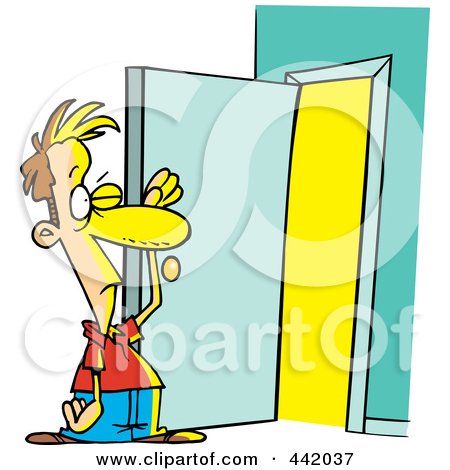 Doorway clipart person #4