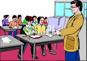 Corridor clipart classroom In a teacher and of
