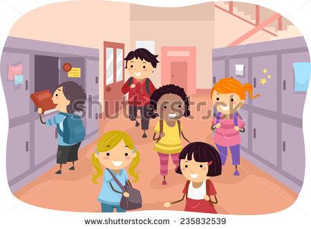 Corridor clipart classroom Art Download Hallway Art Clip