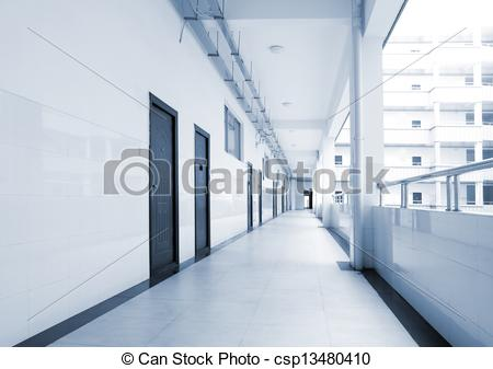 Corridor clipart perspective The very csp13480410 school