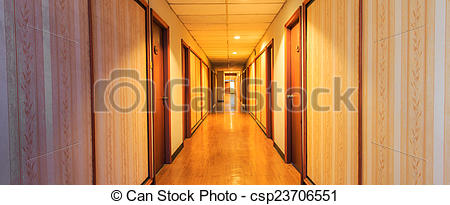 Corridor clipart perspective Doorframe csp23706551 and of of