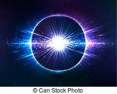 Cosmic clipart small explosion Cosmic Stock explosion Illustration blue