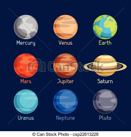 Cosmic clipart free space Planets csp22613228 set solar planets