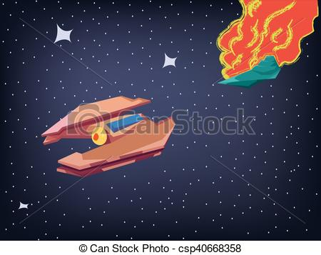 Drawn explosion Clipart Spaceship csp40668358 Explosion Vector