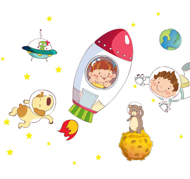 Cosmic clipart spaceship Room Aliexpress Buy for kids
