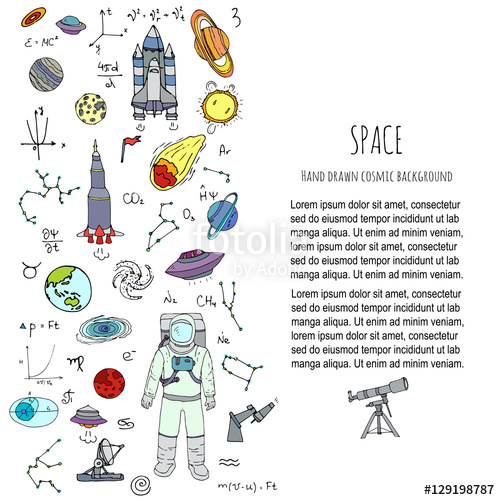 Cosmic clipart spaceship Illustration Hand Space illustration Cosmos