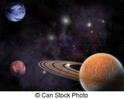 Cosmos clipart earth moon EPS 497 cosmos outer in