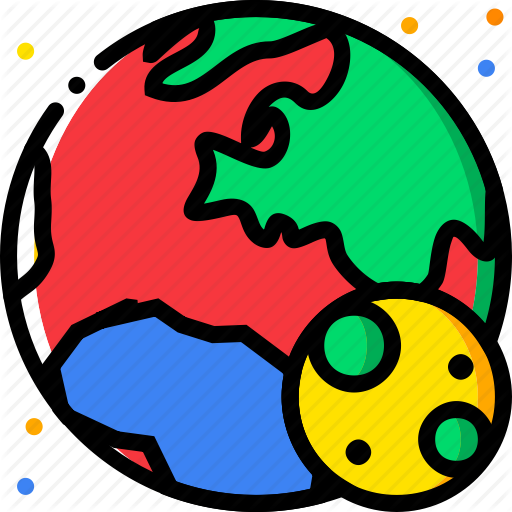 Cosmos clipart earth moon Engine Icon earth with universe